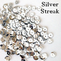 Silver Streak  - 6mm Cupped Sequins