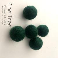 Pine Tree - Wool Felt Balls 2 cm