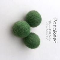 Parakeet - Wool Felt Balls 2 cm