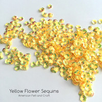 Yellow Flower  - 6mm Cupped Sequins