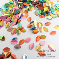 Two Tone Leaf  -  Shaped sequins