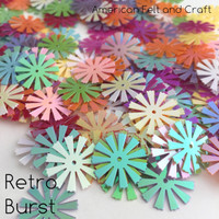 Retro Burst  -  Shaped sequins