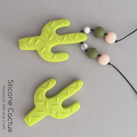 Cactus Shape Silicone Teether