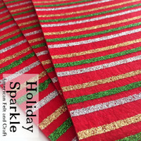 Holiday Sparkle glitter print felt