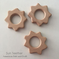 Sun  Wood Teething Pendant