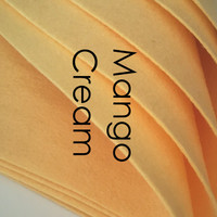 Mango Cream - Wool Blend Felt DISCONTINUED