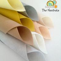 The Neutrals 8 piece Felt Pack