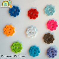 Blossom Button Felt Shapes
