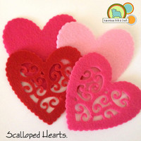 Scalloped Heart Shapes
