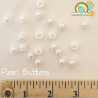 Faux Pearl Buttons