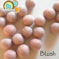 Blush - Wool Felt Ball 2 cm
