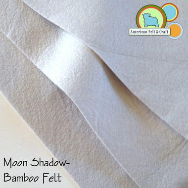Bamboo felt is super soft to the touch and has a slight sheen.