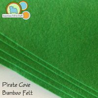 Pirate Cove Bright Green - Bamboo Felt