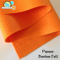 Papaya Orange - Bamboo Felt
