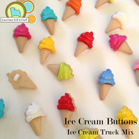 Ice Cream Cone Buttons