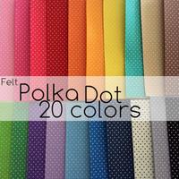 Polka Dot Felt Sheets NEW COLORS