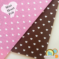 Mini Heart Polyester Felt