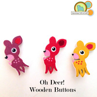Oh Deer! Wooden Buttons