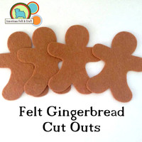 Felt Gingerbread Men Cut outs