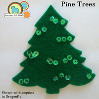 Pine Trees - Christmas Tree Cut Outs 4 pieces