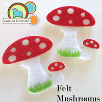 Felt Mushrooms - set of 2
