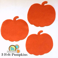 """3 perfect 4"""" x 4.5"""" pumpkin shapes, just the right size for crafting!"""