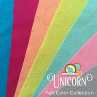 Unicorn- Felt Color Collection 7 pieces