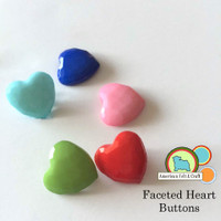 Faceted Heart Buttons- 5