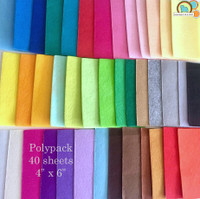 Polyester Felt Pack - 40 Sheets Medium