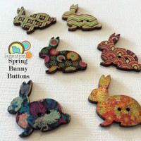 Spring Bunny Buttons