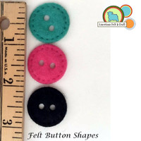 Felt Button Shapes - 10 random colors