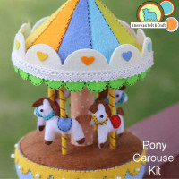 Felt Carousel Music Box kit
