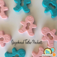 Silicone Gingerbread teether pendant