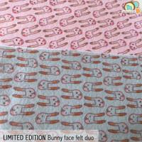 Bunny Head- Limited Edition Felt Print Set