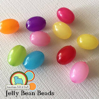 Jelly bean beads