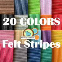 Stripe felt set