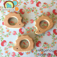 Teething Hedgehogs Organic Wood