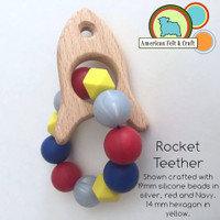 Teething Rocket Organic Wood