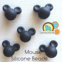 Mouse Shaped Silicone Teething Beads