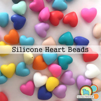 Heart Shaped Silicone Teething Beads