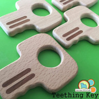 All Natural Wood Key Teether