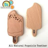 Wood Popsicle Teether