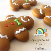 Silicone Gingerbread Cookie Teether