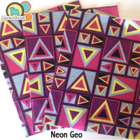 Neon Geometric Printed Felt