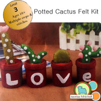 Cactus Felt Craft Kit- Imported