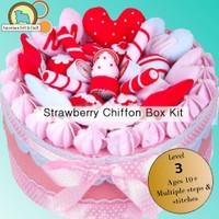 Strawberry Chiffon Felt Cake Box Kit- Imported