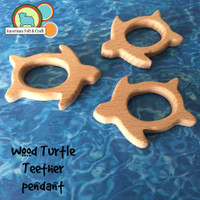 Turtle Wood Teething Pendant