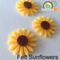 Felt Sunflowers