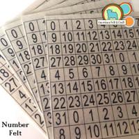 Number Print - Calendar Felt Sheet