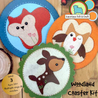 Woodland Coaster Felt Craft Kit- Imported